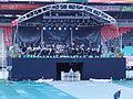 4-daagse Nijmegen 2011 Vlaggenparade 02, de orkestbak.JPG