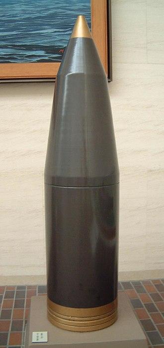 40 cm/45 Type 94 naval gun - Image: 46 cm Type 0 High Explosive Shell