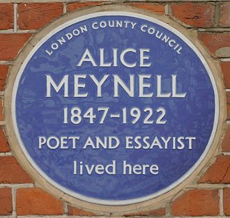 47 Palace Court - Alice Meynell blue plaque