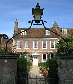 Georgian architecture - Middle-class Georgian house in Salisbury, England, with minimal classical detail.