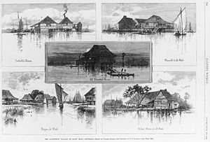 Asian Americans - Five images of the Filipino settlement at Saint Malo, Louisiana