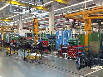 Petrodollar recycling - Image: 60 Jahre Unimog Wörth 2011 201 Produktion (5797901460)