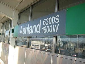 Ashland/63rd station - Image: 63Ashland