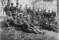 70-я Гвардейская СД. В центре сидит командир дивизии генерал-майор И. И. Людников, правее него подполковник Н. И. Титов и В. И. Шуба.jpg