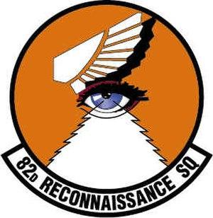 82d Reconnaissance Squadron - 82d Reconnaissance Squadron Patch