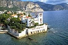 Vue aérienne de la Villa Kérylos