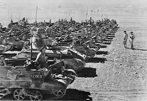 Tanks in the Australian Army - Vickers Light Tanks and Universal Carriers of the 9th Divisional Cavalry Regiment in Syria in 1941.