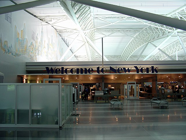 Terminal 9 at JFK By Martin St-Amant (S23678) (Own work) [CC BY 3.0 (https://creativecommons.org/licenses/by/3.0)], via Wikimedia Commons