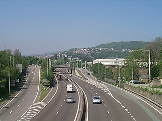 A470 road - Image: A470 North, Pentrebach geograph.org.uk 421685