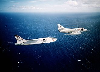 Douglas A-4 Skyhawk - A4D-2 (A-4B) refueling a F8U-1P (RF-8A)