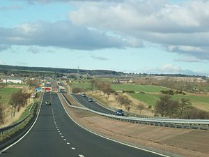 A90 road - The A90 heading north from Dundee
