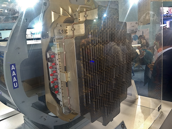 Uttam AESA radar displayed at Aero India 2019
