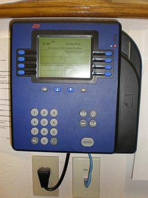 Timesheet - An ADP Model 4500 timecard reader
