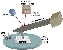 Microscopio de fuerza atmica  Wikipedia la enciclopedia libre
