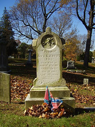 Albert G. Jenkins - Jenkins' grave in the Confederate plot at Spring Hill Cemetery in Huntington, West Virginia