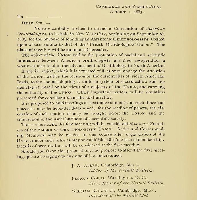 AOU Letter 1 Aug 1883