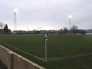 Armthorpe Welfare F.C. - Image: ARMTHORPE WELFARE FC V GLAPWELL FC 11 02 2006 NCEL PREMIER DIVISION southfield road side