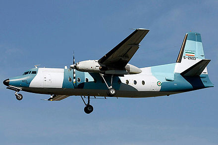 A Fokker F27 of the IRINA. A Fokker 27 of Navy of Iran.jpg