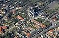 A Szent Jakab templom légi felvételen, Lébény.jpg