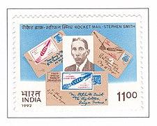 A commemorative postage stamp on ROCKET MAIL-STEPHEN SMITH.jpg