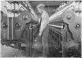 A doffer in Lincolnton Mill. Lincolnton, N.C - NARA - 523112.tif