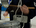 A drummer with the U.S. Air Force Band practices for the presidential inauguration parade at Joint Base Andrews, Md 130110-F-MG591-006.jpg