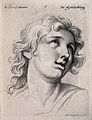 A face expressing rapture. Engraving by M. Engelbrecht (?), Wellcome V0009349.jpg