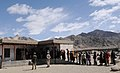 A large number of voters in a queue to cast their vote at a polling booth near Thiksey Monastery in Ladakh during the 5th and final phase of General Election-2009, in J&K on May 13, 2009.jpg