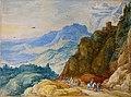 A mountainous landscape with travelers on a path by Joos de Momper (II) & Jan Brueghel (I).jpg