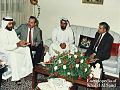 A photo taken 06 March 1989 of Sh Mohammed bin Zayed Al Nahyan the Crown Prince of Abu Dhabi and Deputy Supreme Commander of the UAE Armed Forces during a visit to Sh Hassan Rashed Al-Khuzai at his house in Amman, the capital of Jordan.jpg