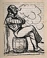 A sailor sitting on a barrel and smoking. Reproduction of a Wellcome V0019079.jpg