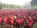 A sea of Monks - Mahabodhi Temple.jpg