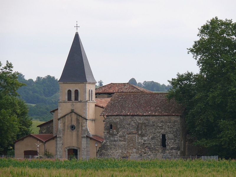 Our Lady of Corheta's church of the abbaye of Cagnotte (Landes, Aquitaine, France).