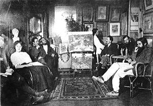 Abbaye de Créteil - Image: Abbaye de Créteil, interior group scene, circa 1907
