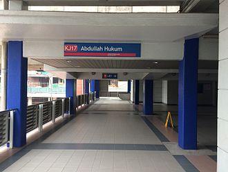 Abdullah Hukum LRT station - Abdullah Hukum - Main Entrance