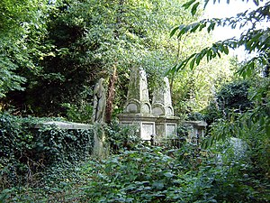 Abney Park Cemetery - Every turn reveals a different landscape.