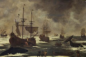 Abraham Matthijs - Whalers in the ice