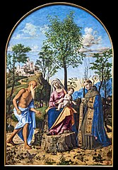 The Madonna with the Orange Tree, with Saint Jerome and saint Louis of Toulouse