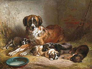 Benno Adam - Image: Adam, Benno, Bernese Mountain Dog and Her Pups