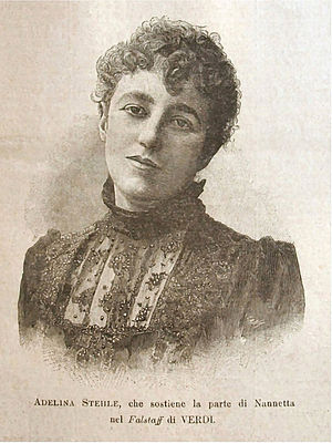Adelina Stehle - Adelina Stehle as Nannetta in Falstaff