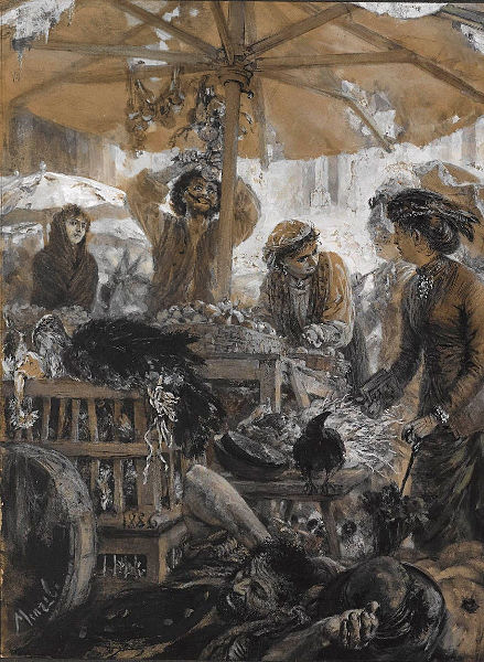 File:Adolph von Menzel Marktszene in Verona 1886.jpg