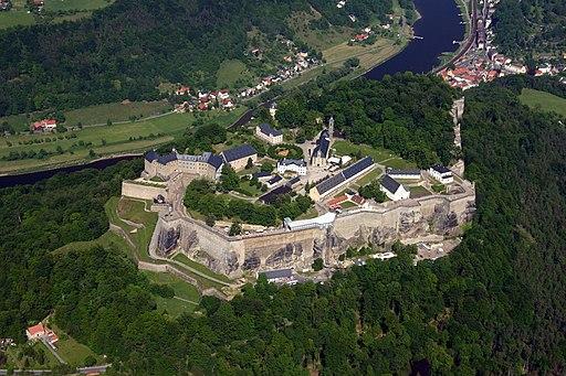 Aerial photo of Festung Königstein, October 2008