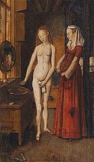 marron tres jeune femme nue fleur