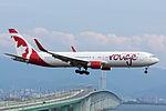 Air Canada Rouge, B767-300, C-FMWU (18266033429).jpg