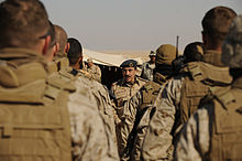 Air Marshal Fahad Al-Amir speaks to a group of US Marines.jpg