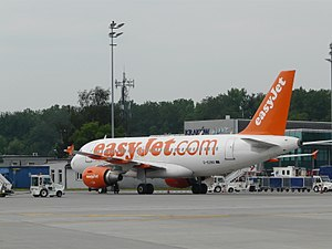 John Paul II International Airport Kraków–Balice - EasyJet Airbus A319-100 in Kraków