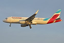 Airbus A320-200 der Eurowings
