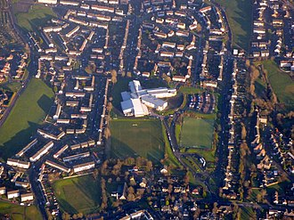 Airdrie Academy - Aerial view of the modern campus, 2017