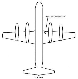 Galaxy Airlines Flight 203 - Air start door location (from NTSB report).