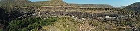 Ajanta caves panorama 2010.jpg